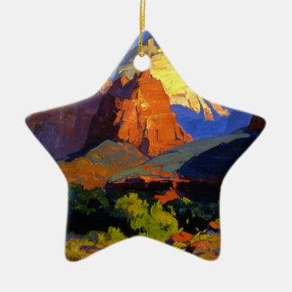Ornement Étoile En Céramique Parc de Bischoff - de Zion