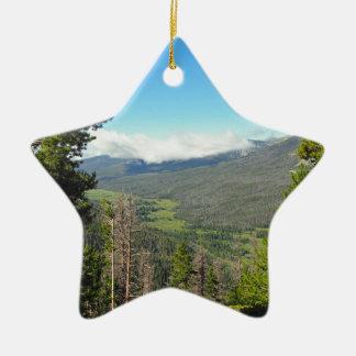 Ornement Étoile En Céramique Parc national de montagne rocheuse