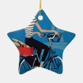 Ornement Étoile En Céramique Paris à Vélo
