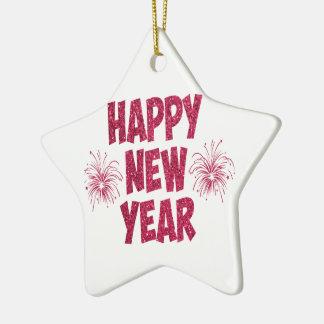 Ornement Étoile En Céramique Parties scintillantes de bonne année