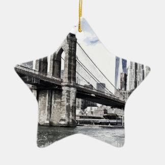 Ornement Étoile En Céramique Paysage urbain Etats-Unis de ville d'horizon