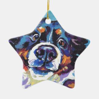 Ornement Étoile En Céramique Peinture d'art de bruit de chien de montagne de
