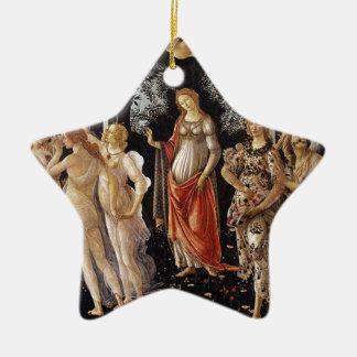 Ornement Étoile En Céramique Peinture de Botticelli Primavera