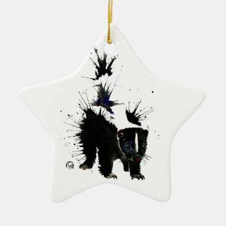 Ornement Étoile En Céramique Peinture pour aquarelle de mouffette