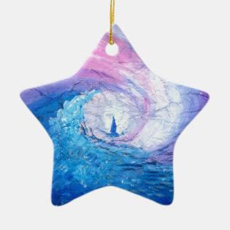 Ornement Étoile En Céramique Perdu dans les vagues, amusement de conception de