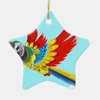Ornement Étoile En Céramique perroquet