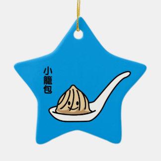 Ornement Étoile En Céramique Petit pain chinois de Dim Sum de boulette de soupe