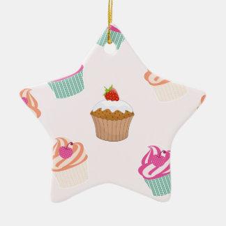 Ornement Étoile En Céramique Petits gâteaux et petits pains