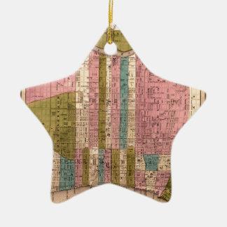 Ornement Étoile En Céramique Philadelphie 1838