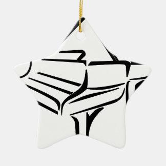 Ornement Étoile En Céramique Piano stylisé
