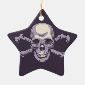 Ornement Étoile En Céramique Pirate ringard