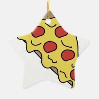 Ornement Étoile En Céramique Pizza de Melty