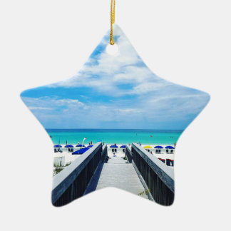 Ornement Étoile En Céramique Plages de Destin la Floride