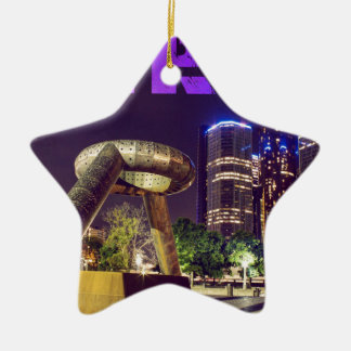 Ornement Étoile En Céramique Plaza de cerf de Detroit
