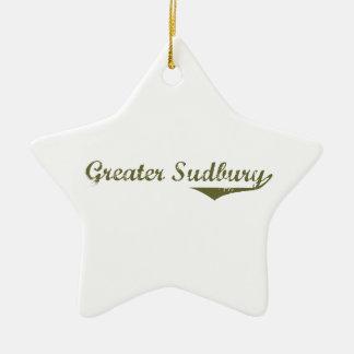 Ornement Étoile En Céramique Plus grand Sudbury