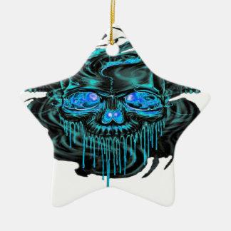 Ornement Étoile En Céramique Png de squelettes de glace d'hiver