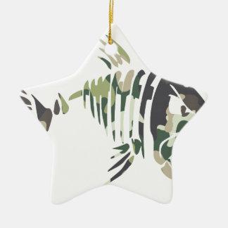 Ornement Étoile En Céramique Poissons fâchés de camouflage, pour le pêcheur