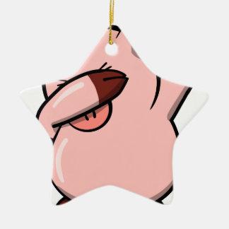 Ornement Étoile En Céramique Porc tamponnant