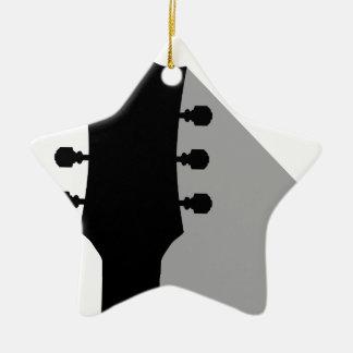 Ornement Étoile En Céramique Poupée de guitare avec l'ombre