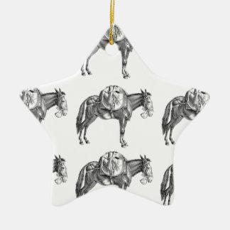 Ornement Étoile En Céramique prière de mule de paquet