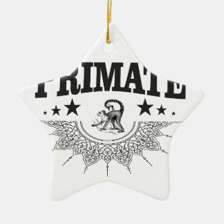 Ornement Étoile En Céramique primat noir de singe d'étoile