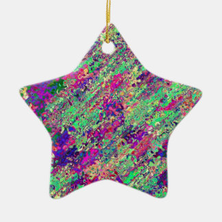 Ornement Étoile En Céramique Produit de la collection éclat de couleur