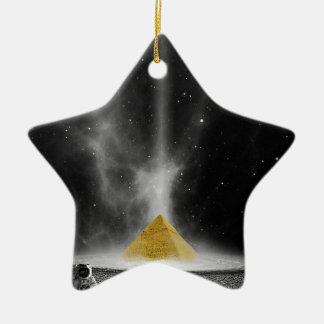 Ornement Étoile En Céramique Pyramide de l'espace