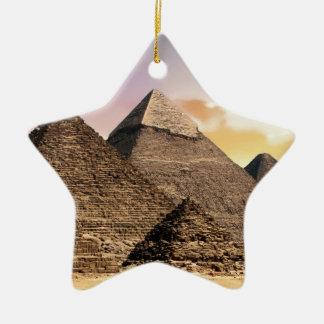 Ornement Étoile En Céramique pyramides