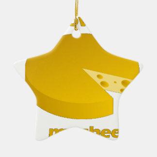 Ornement Étoile En Céramique Qui a déplacé le fromage