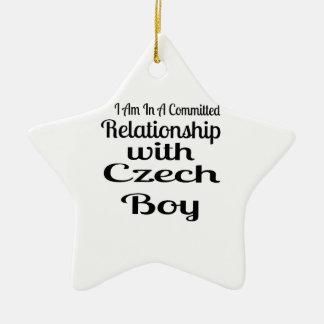 Ornement Étoile En Céramique Rapport avec le garçon tchèque