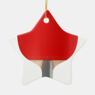 Ornement Étoile En Céramique Raquette de ping-pong
