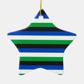 Ornement Étoile En Céramique Rayures de drapeau d'insulaire de détroit de