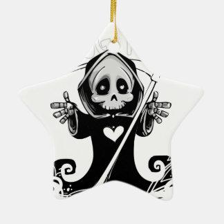 Ornement Étoile En Céramique Reaper-bébé mignon de Reaper-bande dessinée de