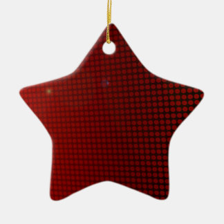 Ornement Étoile En Céramique red halo