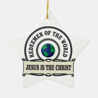 Ornement Étoile En Céramique rédempteur de seigneur du monde