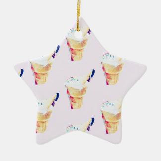 Ornement Étoile En Céramique Reine de crème glacée