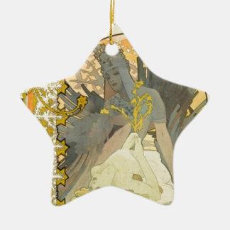 Ornement Étoile En Céramique Reine de l'hiver