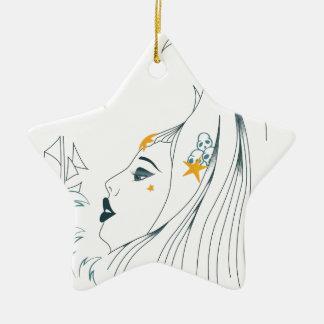Ornement Étoile En Céramique Reine des mers