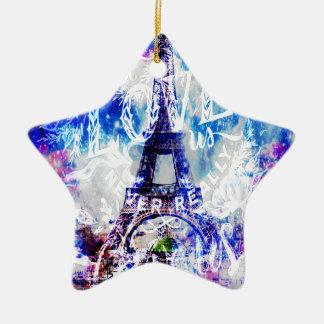 Ornement Étoile En Céramique Rêves parisiens d'arc-en-ciel de ceux qui nous