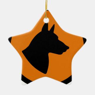 Ornement Étoile En Céramique Risque de chien
