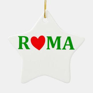 Ornement Étoile En Céramique Rome ville éternelle
