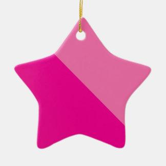 Ornement Étoile En Céramique rose-rose