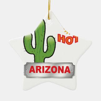 Ornement Étoile En Céramique Rouge chaud de l'Arizona