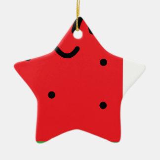 Ornement Étoile En Céramique rouge-glace-bruit