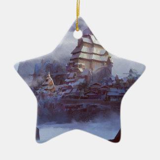 Ornement Étoile En Céramique Royaume de neige