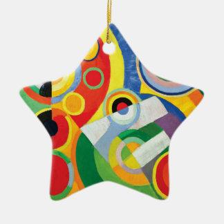 Ornement Étoile En Céramique Rythme Joie de Vivre par Robert Delaunay