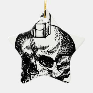 Ornement Étoile En Céramique Sablier de serpent de crâne