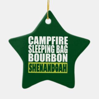 Ornement Étoile En Céramique Sac de couchage de feu de camp Bourbon Shenandoah