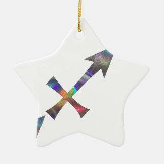 Ornement Étoile En Céramique Sagittaire d'hologramme