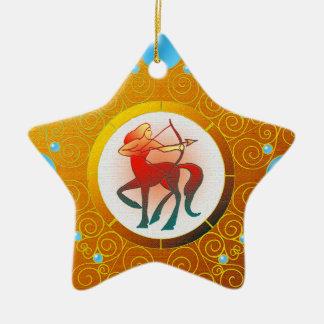 Ornement Étoile En Céramique Sagittaire d'ornement de signe d'étoile